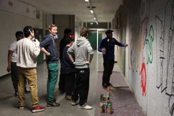 Intermezzo Graffiti Workshop, Johann-Hirnich-Wichern Schule Hofheim, 2013