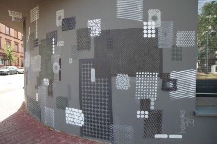 Kunst am Bau, Projekt Triftstraße, Frankfurt-Niederrad. Architekten Stein, Hermes Wirtz, 2019