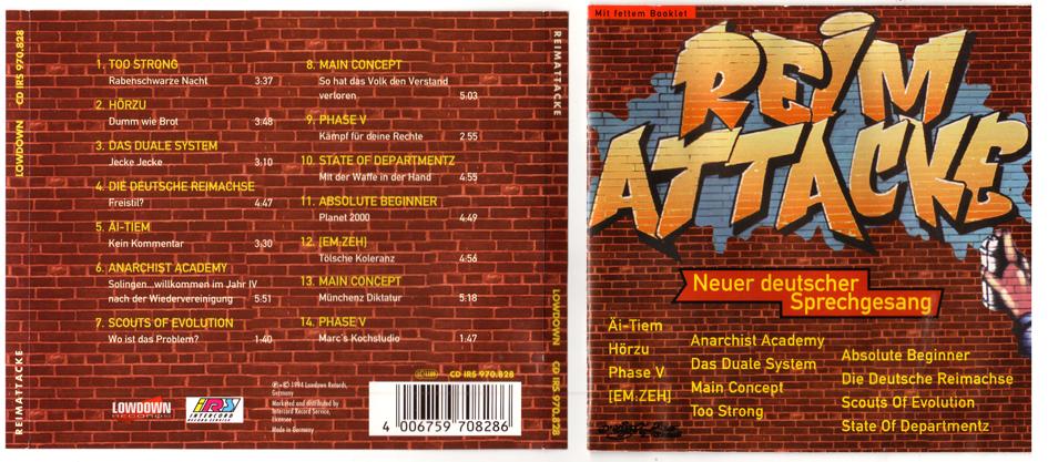 Reimattacke Neuer deutscher Sprechgesang Sampler Cover Artwork + Layout 1994