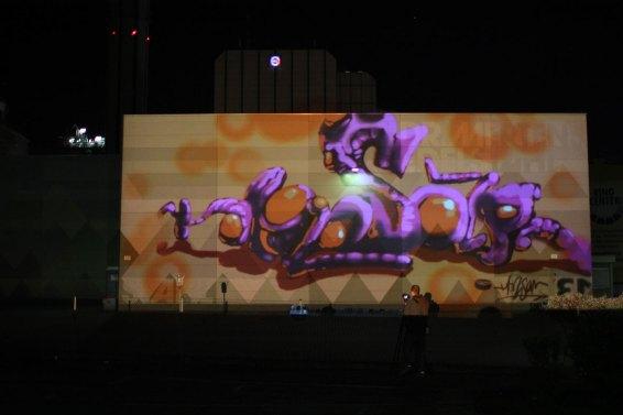 »Honsar« Bomber feat. Lichtfaktor, LumaPaint Station @ Heyne Fabrik, Luminale Offenbach 2012