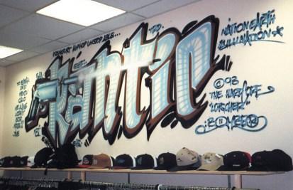 Frantic spraycan on wall 1993