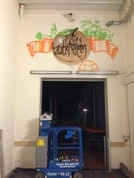 Globus Filiale Hattersheim Wandgestaltung Graffiti