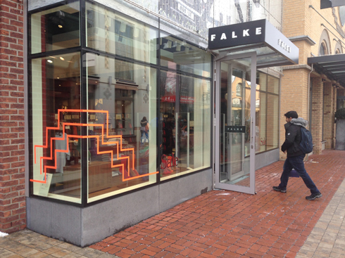 FALKE store Ingolstadt Village Tape Art 2019