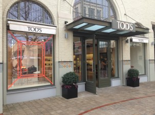 TOD'S store Ingolstadt Village Tape Art 2019