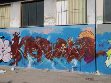Grifo and Lion with Perugia Style freestyle artwork, 2018