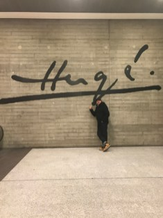 Helge in front of Hergé, Bruxelles 2017