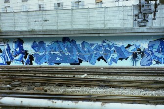 Scum TFP by Cemnoz @ Paris Gare du Nord 1994