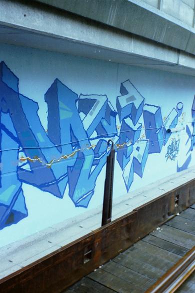 Scum TFP by Cemnoz @ Paris Gare du Nord 1994