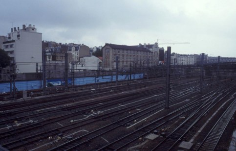 The blue wall @ Paris Gare du Nord 1994