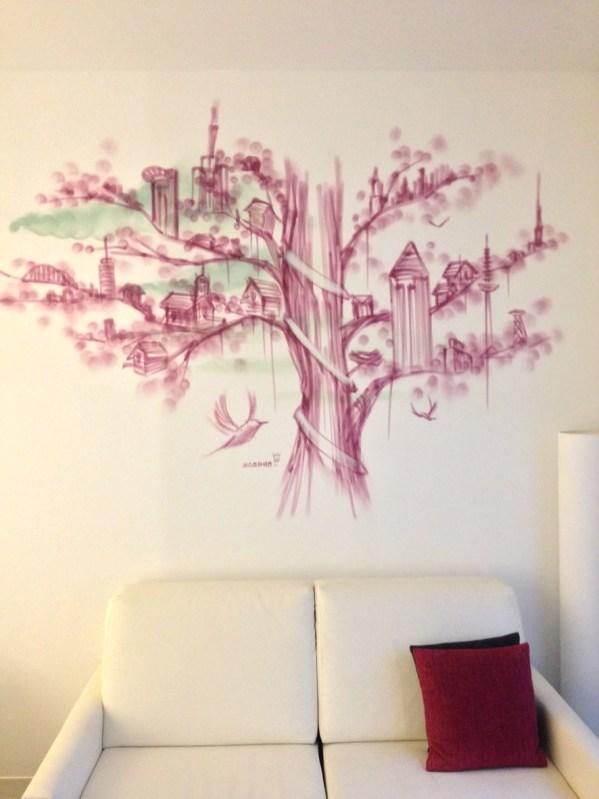 The tree inside the city Innside Ostend Hotel, Melia Group, Frankfurt 2020
