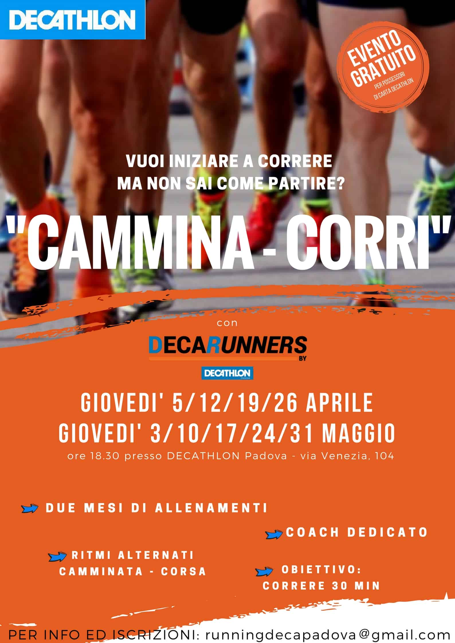 "Evento ""CAMMINA-CORRI"" by Decathlon"