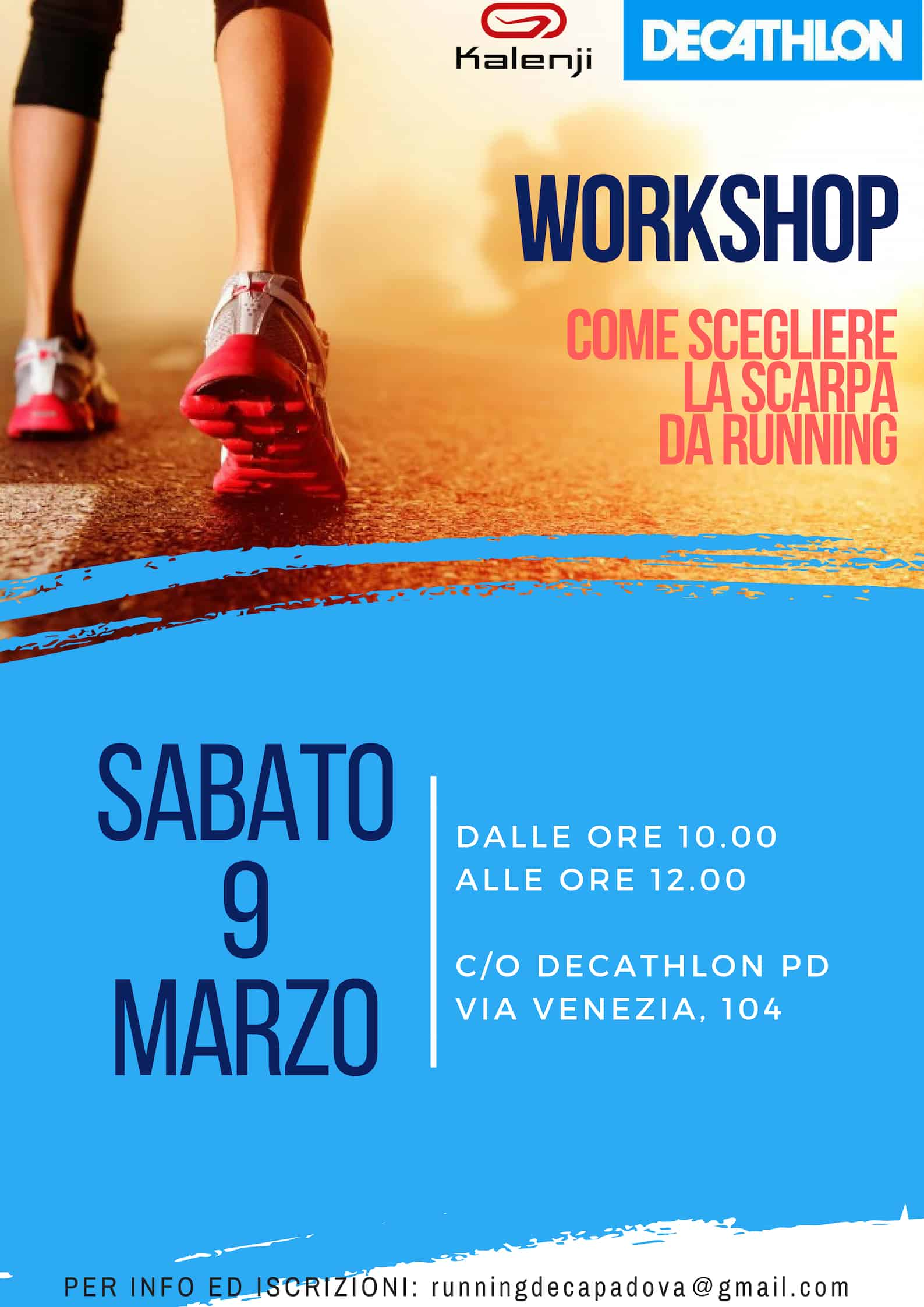 "Workshop ""Come scegliere la Scarpa da Running"""