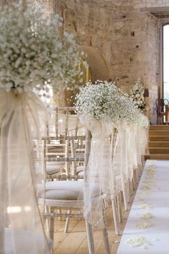 Bellissimi addobbi floreali per il matrimonio