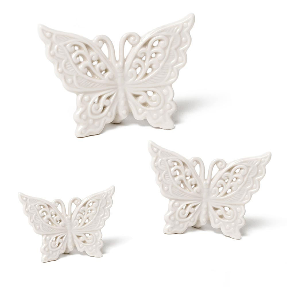 bomboniera farfalla in porcellana bianca Bomboniera
