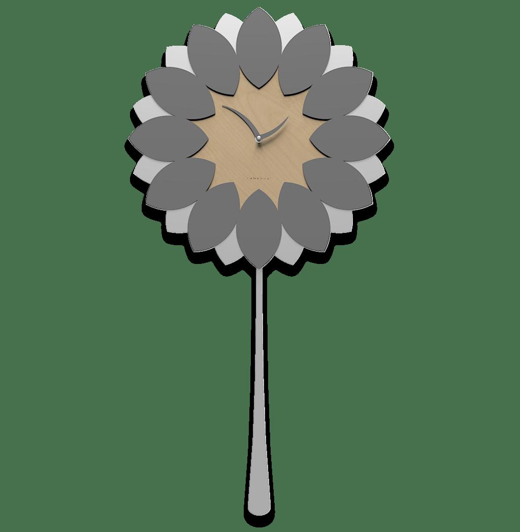 Il bambino che dondola rappresenta il pendolo. Orologio A Pendolo Parete Moderno Callea Design Flip Legno Colore Grigio Quarzo