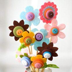 Kelly's Button Bouquet