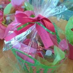 Colorful gift basket