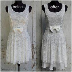 Lengthen a Dress With Chiffon