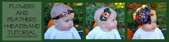 Flowers and Feathers Headbands Tutorial