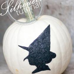 Halloween in a Hurry: Witch Silhouette Pumpkin