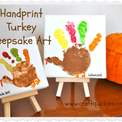 Turkey Handprint Keepsake Art