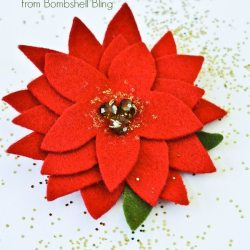 Elegant Felt Poinsettia Tutorial