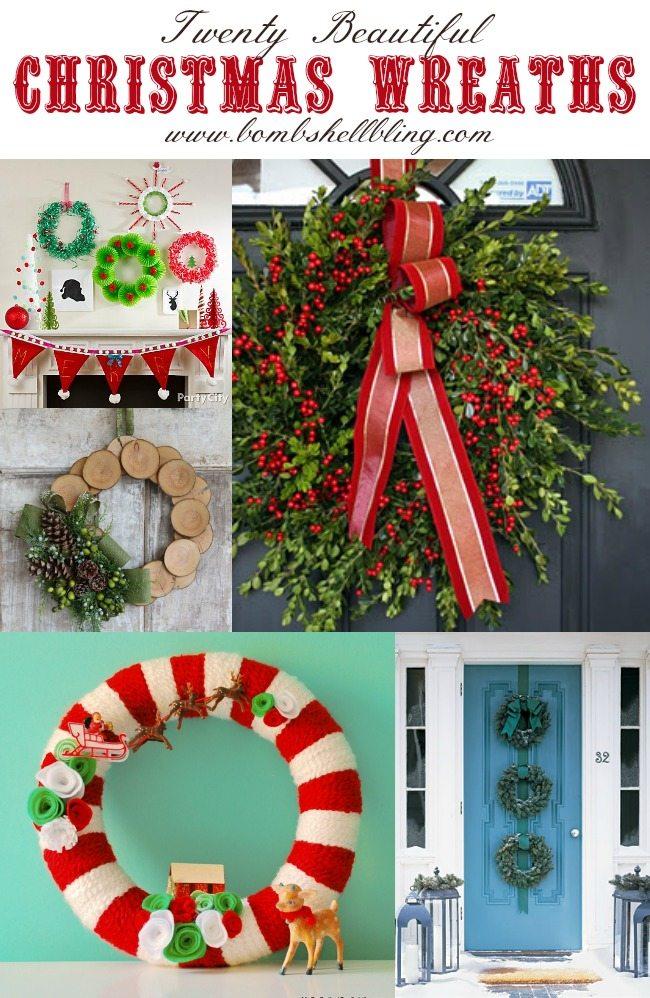 Twenty Beautiful Christmas Wreaths