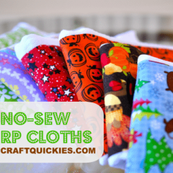 No-Sew Burp Cloths