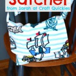 Simple Fleece Satchel Tutorial