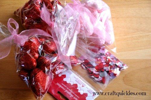 Dirt Cheap & Lightning Fast Valentine's Day Centerpiece Supplies