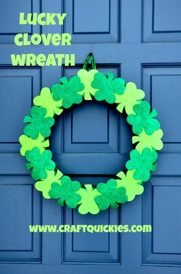 This simple tutorial is for a lucky clover wreath. This wreath is perfect for St. Patrick's Day and can hold up in wet weather.