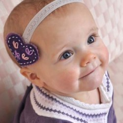 Romantic Stitched Wool Felt Headband