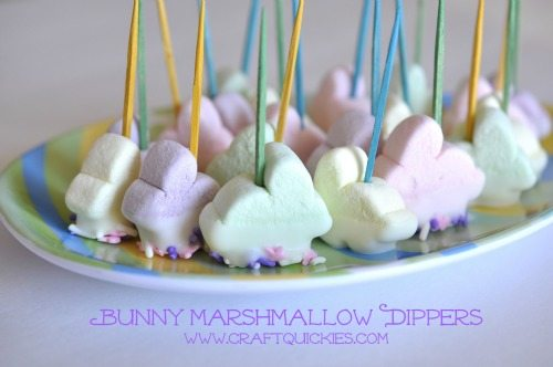 Bunny Marshmallow Dippers from Craft Quickies