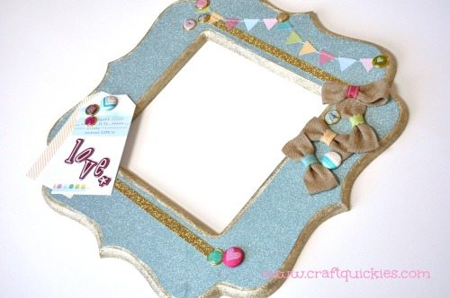 Dear Lizzy - Hope Springs Frame from Craft Quickies - Finished Frame