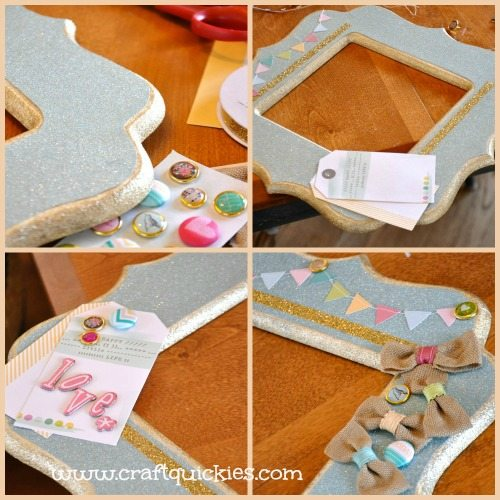 Dear Lizzy - Hope Springs Frame from Craft Quickies - Process