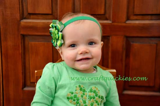 Lucky Charm Hair Bow 12