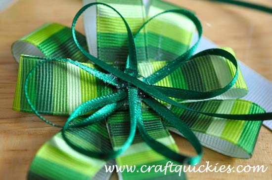 Lucky Charm Hair Bow from Craft Quickies 4
