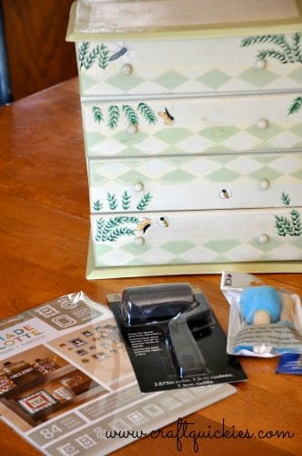 Painting a Sweet Miniature Dresser with Handmade Charlotte Stencils from Craft Quickies 1