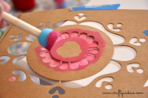 Painting a Sweet Miniature Dresser with Handmade Charlotte Stencils from Craft Quickies 5