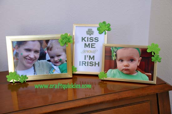 Quick & Easy St. Patrick's Day Frames from Craft Quickies 2