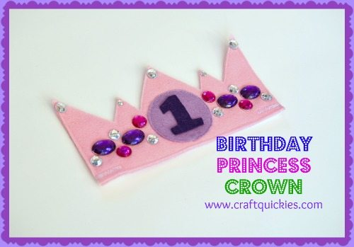 Free pattern for the CUTEST birthday crown from Craft Quickies! It is so easy and totally customizable!