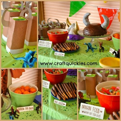Cute and easy food for a How to Train Your Dragon birthday party!