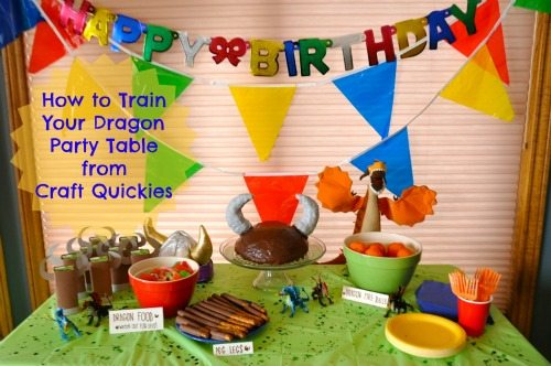 Check out this cute How to Train Your Dragon Birthday Party from Craft Quickies!