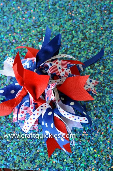 Finished firecracker hair bows