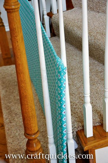 Make a DIY Baby Gate in a flash. It is shockingly simple and works like a dream. It's perfect for oddly shaped stairs and banister!