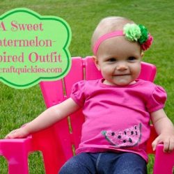 A Sweet Watermelon-Inspired Outfit for a Sweet Little Lady
