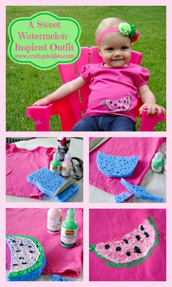 xThis watermelon-inspired outfit can be made in 15 minutes total!  So cute!!