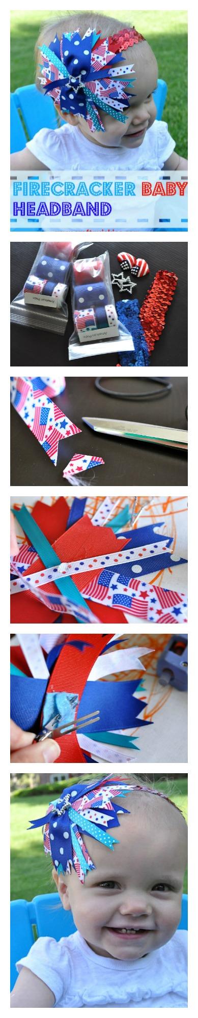 Firecracker Baby Headband Collage