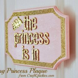 Glittering Princess Plaque