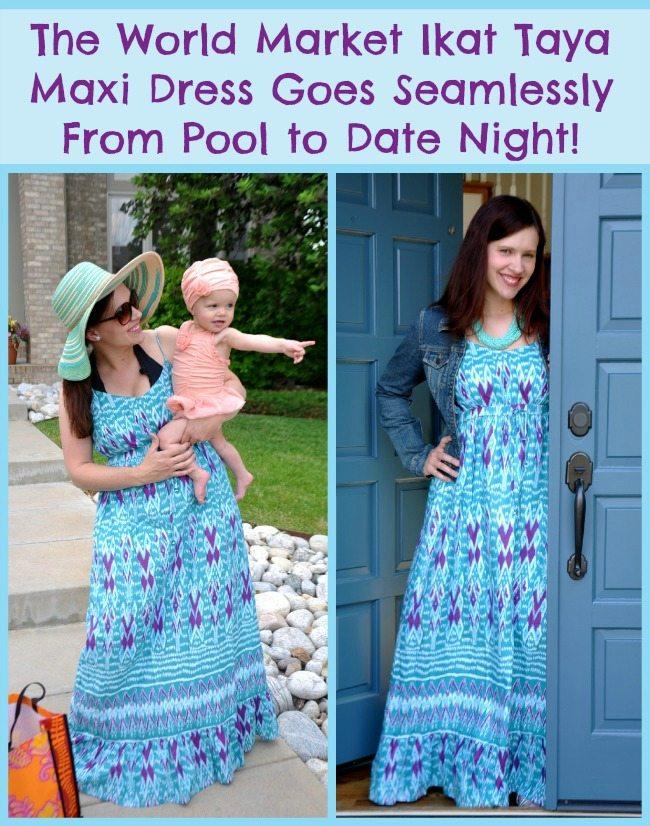 The World Market Ikat Taya Maxi Dress goes seamlessly from the pool to date night!  #WorldMarket #SummerFun